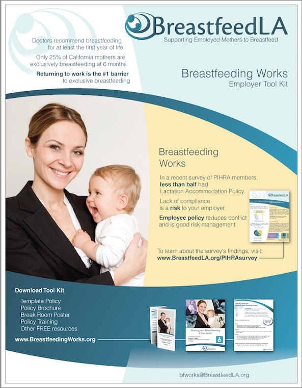BreastfeedLA Breastfeeding Works Employer Tool Kit - Breastfeeding brochure templates