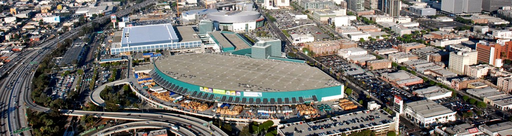 Ariel view of the LA Convention Center