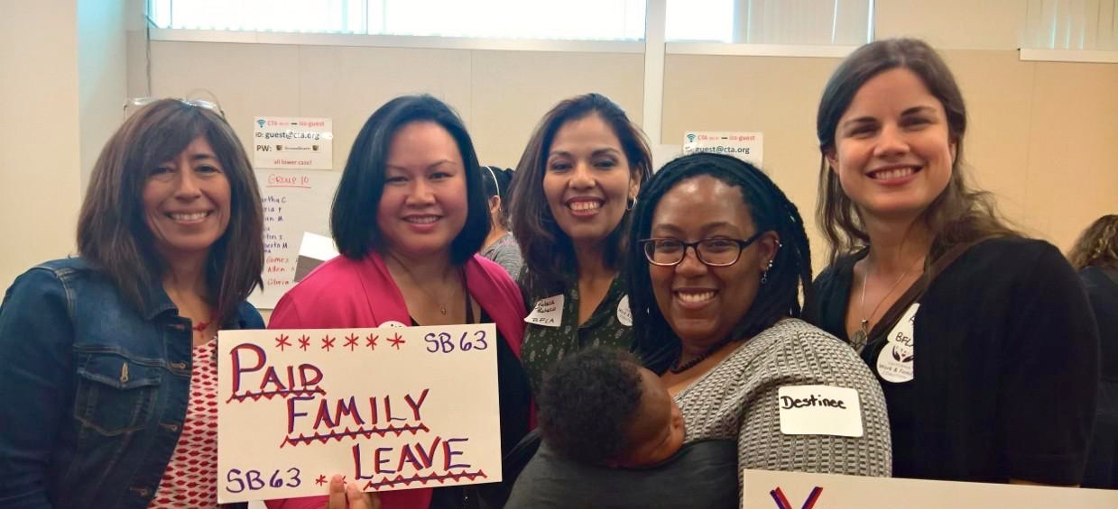 Breastfeeding advocates unite! L-R Robbie G-D. (California Breastfeeding Coalition), Bami A., Rebeca P-H., Destinee F. and little D., Katie Waters-Smith (BreastfeedLA)