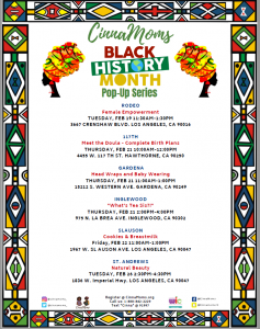 CinnaMoms Black History Month Pop-Up Series @ Multiple Locations (Please Look at Flyer)
