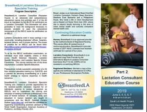Lactation Education Specialist Training Part 2 @ South Los Angeles Health Projects