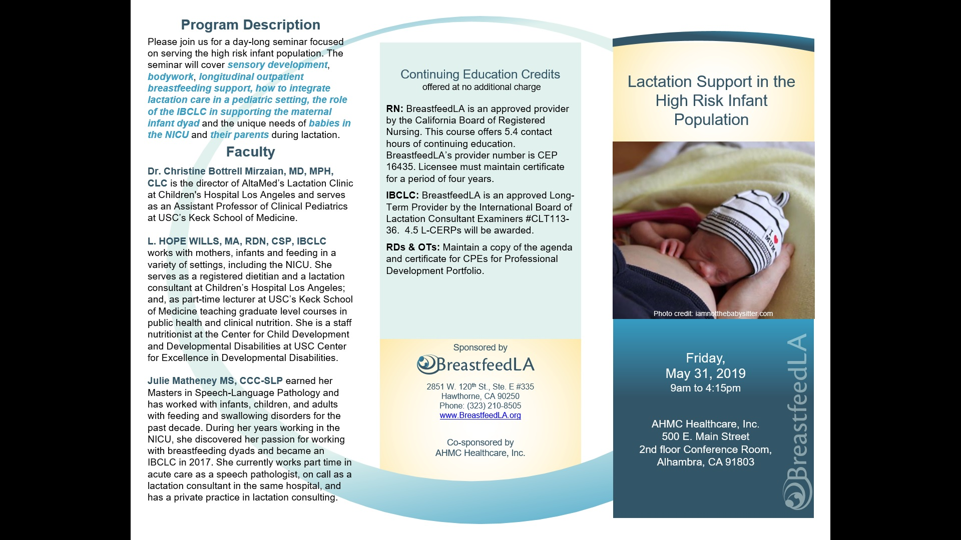 BreastfeedLA | » Lactation Support In the High Risk Infant